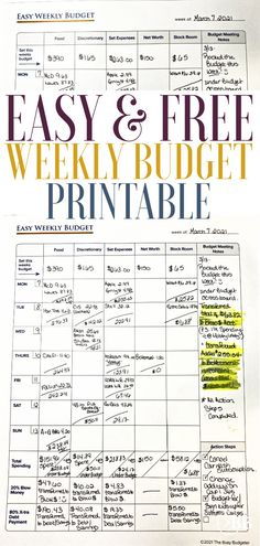 This free weekly budget printable is the quickest and easiest way to get your money under control and, stick to a budget. We walk you through the entire process for using this free printable. It will change everything for your finances. Weekly Budget Printable, Free Printable, Cleaning Business, Managing Your Money, Budgeting Finances, Planner Pages, Life Advice, Financial Planning, Money Tips