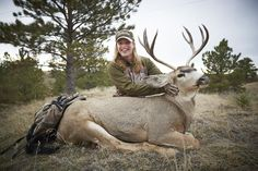 "Nature of the Day!  ""This is my first rifle mule deer!"" -Cabela's Outfitter Anna Demro   #ItsInMyNature"