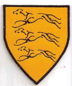 Game of Thrones House Clegane Patch, Song of Ice and Fire. $9.00, via Etsy.