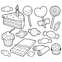 All Kids Favorite Candy Coloring Page Free Printable