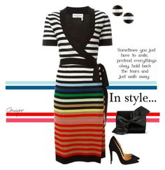 """Stripes...in Style"" by gemique ❤ liked on Polyvore featuring Sonia Rykiel, Christian Louboutin, Victoria Beckham, Kate Spade, women's clothing, women's fashion, women, female, woman and misses"