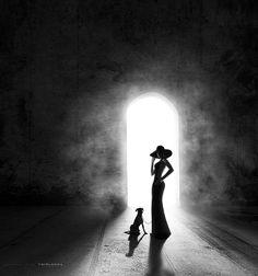 Lady with the dog.... by - T E I M A N -, via 500px