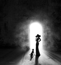 Lady with the dog.... by - T E I M A N -, via 500px