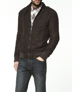 Zara - FAUX-SUEDE JACKET WITH ELBOW PATCHES