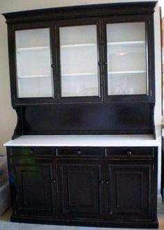 White Kitchen Hutch Cabinet black china cabinet | kitchen | pinterest | china cabinets, china