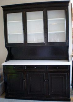 painted black hutch