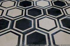 popham design   honeycomb hex in kohl/milk