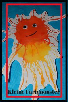Farbmonster mit Wasserfarben malen kreative Kinder