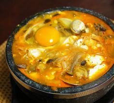 Korean Food_Sundubu jjigae=soft tofu stew