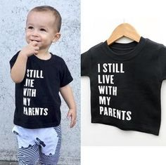 This statement shirt really fits for any occasions. Cotton and polyester blend materials make the fabric comfortable and smooth for kids' skin. Cute Outfits For Kids, Cute Kids, Boy Outfits, Baby Boy Clothing Sets, Baby Shirts, Bad Boys, Outfit Sets, Shirt Ideas, Custom Shirts