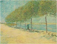 Vincent van Gogh Painting, Oil on Canvas Paris: June - July , 1887 Van Gogh Museum Amsterdam, The Netherlands, Europe F: 299, JH: 1254  Van Gogh: Walk Along the Banks of the Seine Near Asnieres Van Gogh Gallery