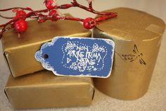 """Set 5 Tag Natale """"Non Aprire prima di Natale"""" di Soffi di Carta By Sab su DaWanda.com"""
