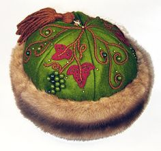 Hats inspired by Central Asian costume.