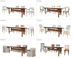 Option 4 (and 6 for the leather) Ask the Audience: Chairs to go with my new dining table