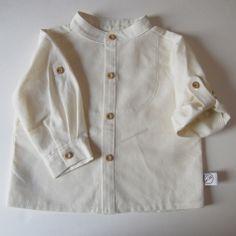 Camisa manga remangable lino   No llores patito