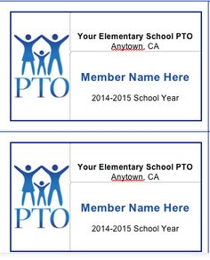 Pto Membership Cards Download And Customize For Your Group