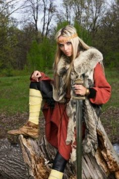 Viking girl.....would love to see my girlfriend in this !