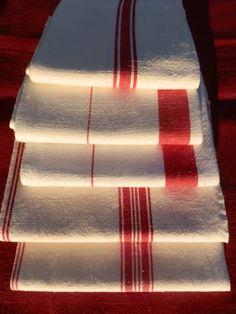 Five French Vintage Linen Linen Metis Cotton Tea by GoshnPoche, $75.00