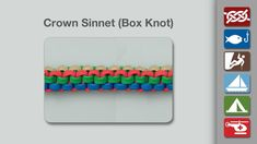 Crown Sinnet (Box Knot) - Learn how to Tie a Crown Sinnet (Box Knot) in a simple step-by-step video.   By AnimatedKnots.com - the world's #1 knot site.