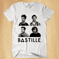Bastille T Shirt Music T Shirt Rock Band T Shirt For by Ditakim, $17.97