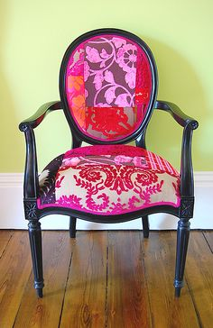 patchwork arm chair - Google Search