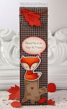 Cute Critters stamp set and Die-namics, Class Act, Fine Check Background, Falling Leaves Die-namics, Say What? Die-namics, Stitched Circle STAX Die-namics - Sharon Harnist #mftstamps