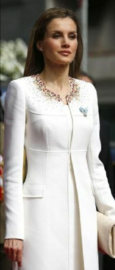 Queen Letizia of Spain during Coronation of her husband King Felipe VI of Spain at Spanish Parliament on 19.06.2014 in Madrid