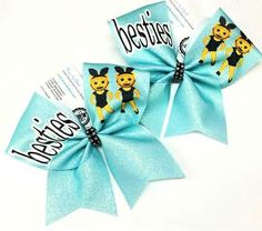 Bows by April - BFF Best Friends Bows Besties Cheer Bows, $28.00 (http://www.bowsbyapril.com/bff-best-friends-bows-besties-cheer-bows/)