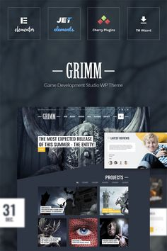 #Responsive #Game #Development #Studio #WordPress #Theme, designed for small and medium companies, will greatly improve your internet presence. In today's world it's not enough to develop a good video game, it's also very important to make as many gamers as possible to know about it. And this is especially important for a new beginnings in the game development industry. And with our Game Development Studio WordPress theme you can easily do it! This theme has a distinctive design…