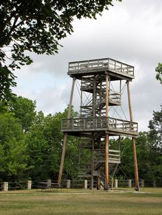 40 foot tall observation tower at High Cliff State Park in Wisconsin...one of the best vacations we ever had. :)