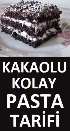 Kakaolu Kolay Pasta Tarifi Easy cake recipe with cocoa, which you can make in a very short time with the ingredients at home Delicious Cake Recipes, Easy Cake Recipes, Yummy Cakes, Dessert Recipes, Yummy Food, Pasta Recipes, Realistic Cakes, Homemade Carrot Cake, Cocoa Cake