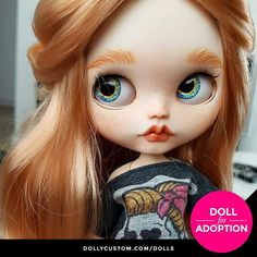 Custom Blythe Doll for Adoption by ElDollRado  CHECK HERE  https://etsy.me/2KWosz4 . . . #dollycustom #blythe #blythedoll #blythedollcustom #blythecustom #blythecustomizer #ooakblythe #customblythe #kawaii #doll #artdoll #dollstagram #blythestagram #blythelover #ブライス #customdoll