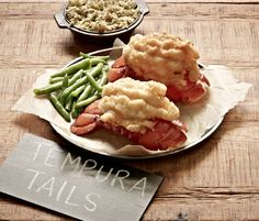 #JoesCrabShack #JoesMaineEvent -  Joe's Crab Shack - The Maine Event - Tempura Tails: Two lobster tails lightly battered in a crisp tempura and paired with freshly made sriracha tarta.