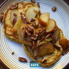 As satisfying as it can be, a bowl of oatmeal isn't the only way to eat oats for breakfast—mixing them into pancake batter makes a heftier, more filling pancake that bears up well under the lightly browned pears and chopped pecans in this recipe.