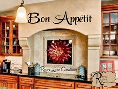 Bon Appetit Kitchen Wall Decal-Kitchen Wall Decal - Bon Appetit Decal- Kitchen Decal Kitchen Art- Kitchen Decor