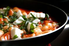 Ricotta Gnocchi with Basil & Fresh Mozzarella