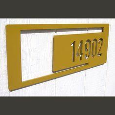 MOD SHAPES Rectangle Custom House Number Sign by ModaIndustria, $219.00