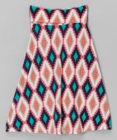 Look at this Coral & Navy Geometric Maxi Skirt - Toddler & Girls on today! Katies Fashion, Coral Navy, Girly Girl, Girl Fashion, Toddler Girls, Chic, Lady, Skirts, Girl Style