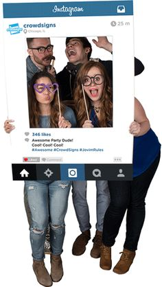 How cute is this #InstagramFrame for your next party?! Customize your own at www.CrowdSigns.com.