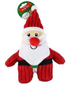 Midlee Christmas Corduroy Dog Toy (Santa)