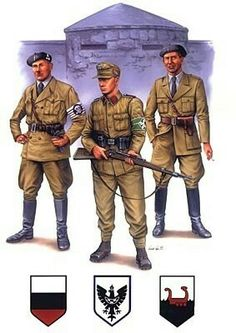 Uniforms of Slovene Home Guard 1943, pin by Paolo Marzioli