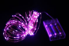 AA Battery Operated Rope Lights Waterproof Flexible Little Led String Lights For Halloween Christmas Holiday Wedding Party Patio Garden Lobby Corridor Decorations Copper Wire(10M 100Leds,33Ft,Purple) ** Review more details here : Wedding Decor