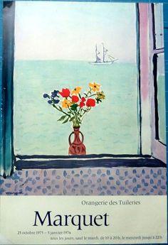 Affiche Galerie-MARQUET-Orangerie Tuileries -Paris 1976