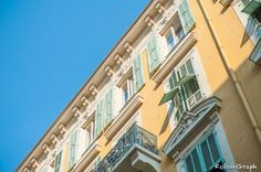 A traditional house of Nice with it's typical shutters.