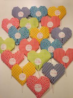 2015 Valentine's Day Origami Lollipop Holders