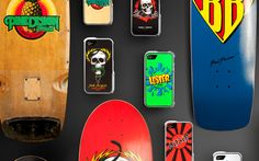 iPhone cases based on classic skateboards #WANT