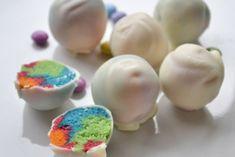 "Regenbogen Bällchen ""Rainbow cake balls"" - Rezept"