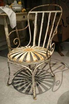 French Garden Chair Iron Furniture Paint Love Grenier Decor