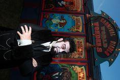 Nikolai Diablo in front of the Carnival Diablo World of Wonders- 2009    photo credit John Major Photography