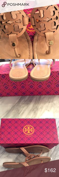 Tory Burch Miller Sandals Beautiful Tory Burch Miller Sandals in nude/makeup cowhide leather and slip resistant soles.  Ships same day of purchase confirmation. Tory Burch Shoes Sandals